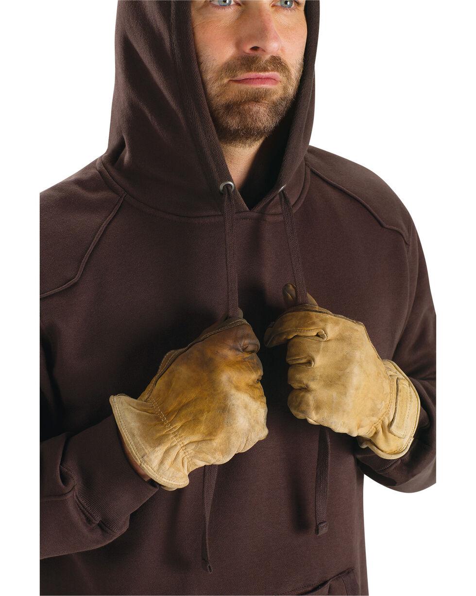Red Kap Men's Brown Workwear Pull-Over Heavyweight Hoodie, Dark Brown, hi-res