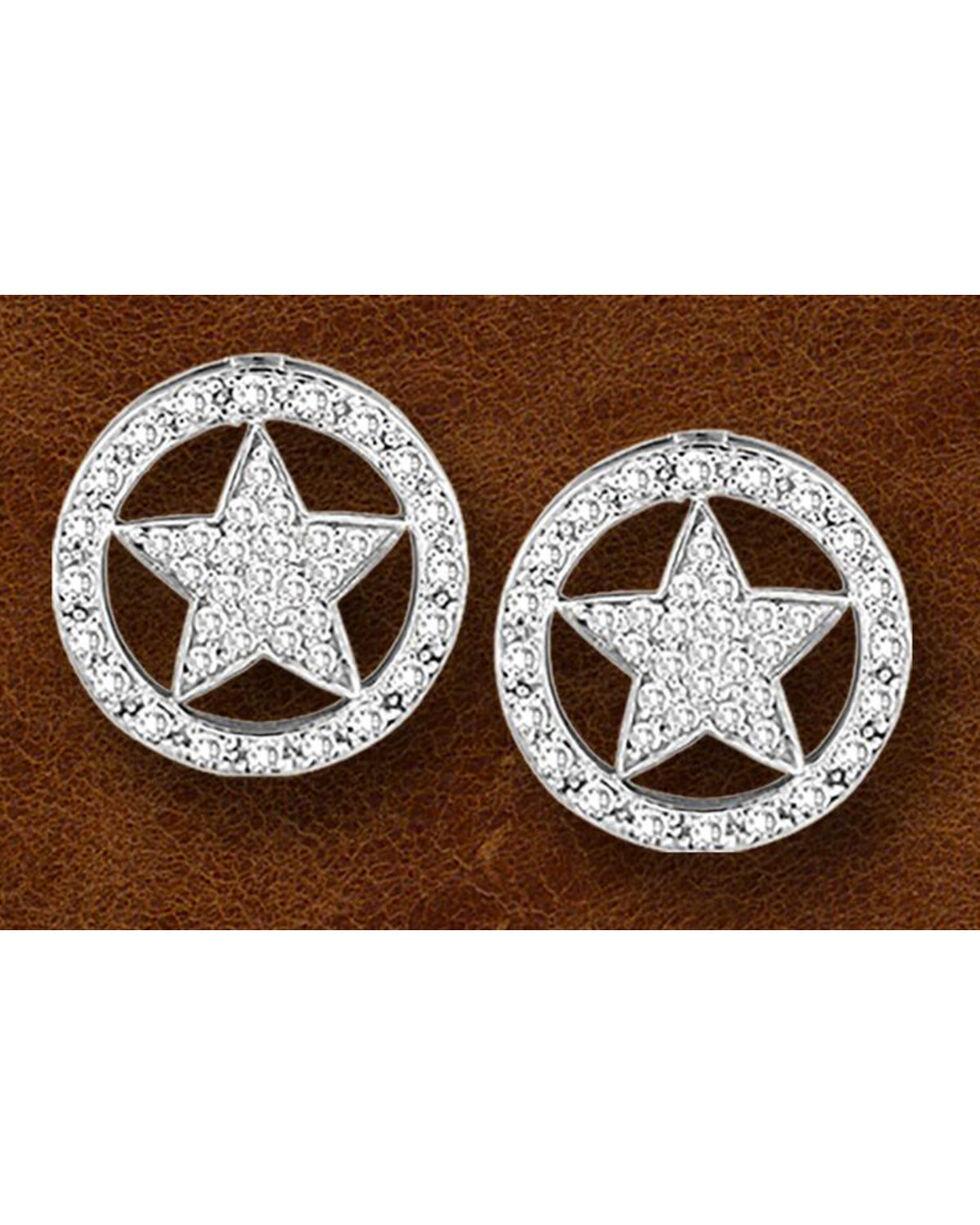 Kelly Herd Sterling Silver Western Star Earrings, Silver, hi-res
