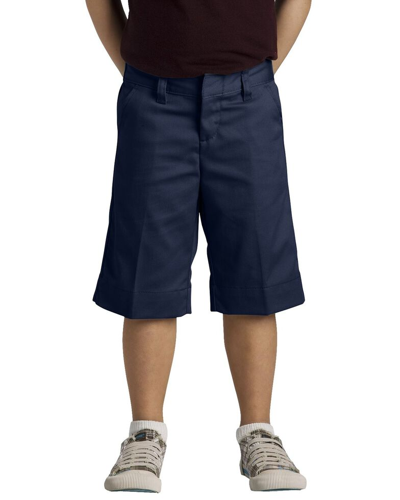 Dickies Girls' Stretch Bermuda Shorts - 16-20, Navy, hi-res