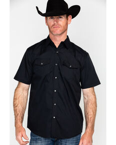 Gibson Men's Solid Short Sleeve Shirt, Black, hi-res