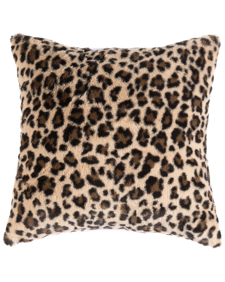 Shiraleah Leopard Print Jill Pillow, Black/tan, hi-res