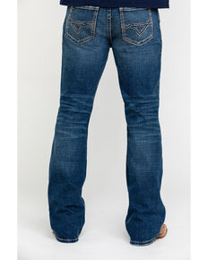 Cody James Core Men's Dungaree Stretch Relaxed Bootcut Jeans , Blue, hi-res