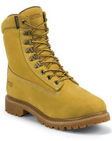 Chippewa Men's Waterproof Nubuc Work Boots, Golden Tan, hi-res