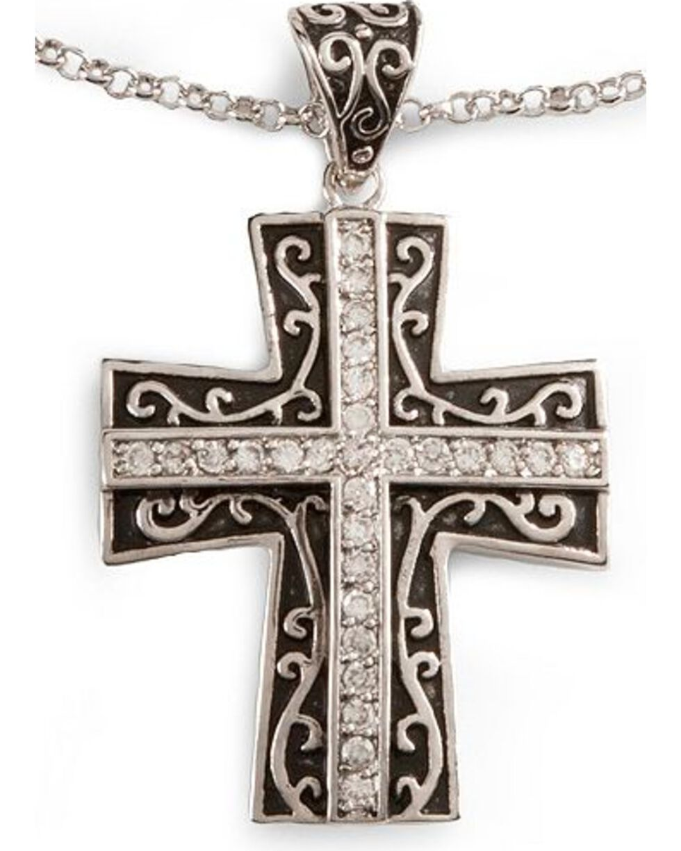 Montana Silversmiths Women's Cross Jewelry Set, Silver, hi-res