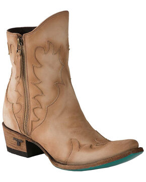 Lane Women's Firestorm Western Booties - Snip Toe, Distressed Brown, hi-res