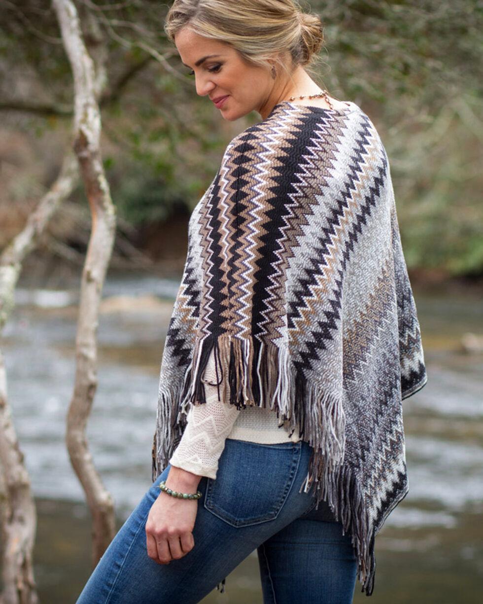 Ryan Michael Women's Zig-Zag Sweater Poncho , Multi, hi-res
