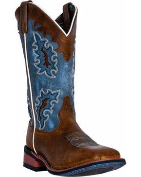 Laredo Women's Isla Western Sqaure Toe Boots, Tan, hi-res