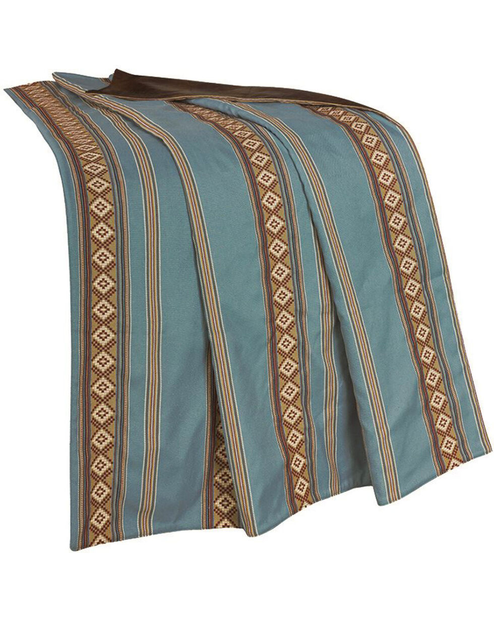 HiEnd Accents Turquoise Stripe Throw Blanket, Multi, hi-res