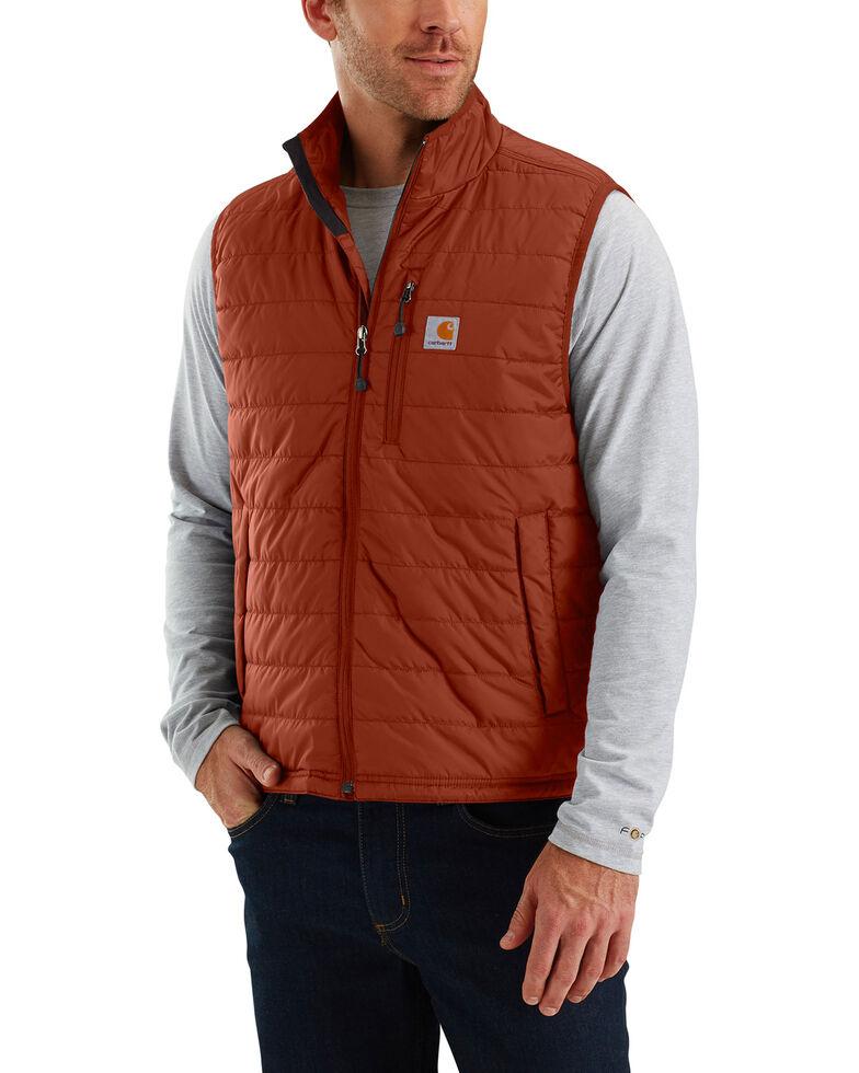 Carhartt Men's Gilliam Work Vest - Big & Tall , Red/brown, hi-res