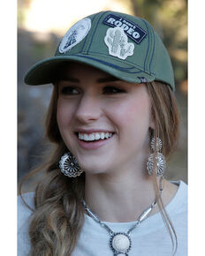 Cruel Girl Women's Twill Patch Baseball Cap, Olive, hi-res