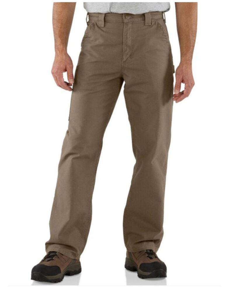 Carhartt Men's Light Brown Canvas Dungaree Work Pants - Big , Lt Brown, hi-res
