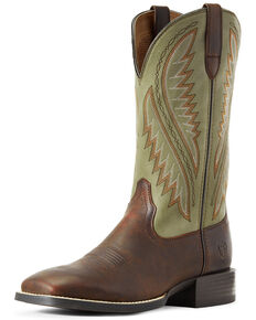 Ariat Men's Stonewall Barley Western Boots - Wide Square Toe, Brown, hi-res