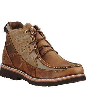 Ariat Men's Exhibitor Moc Toe Shoes, Distressed, hi-res