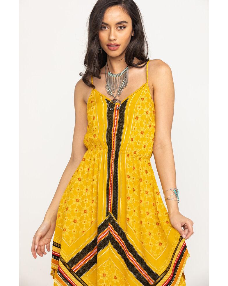 Coco + Jaimeson Women's Yellow Border Print Hanky Dress, Gold, hi-res