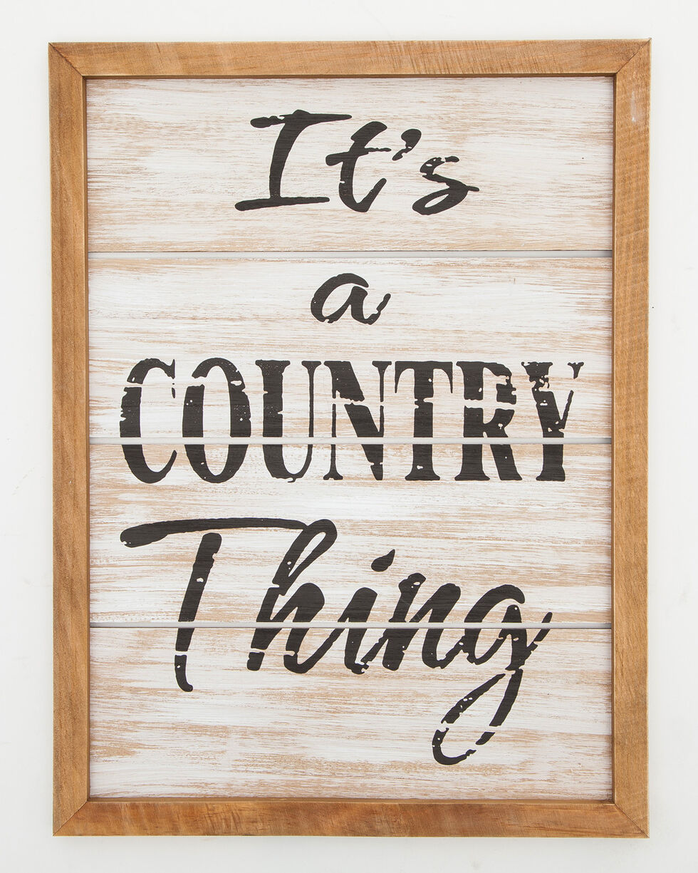 BB Ranch® It's a Country Thing Wall Sign , Brown, hi-res