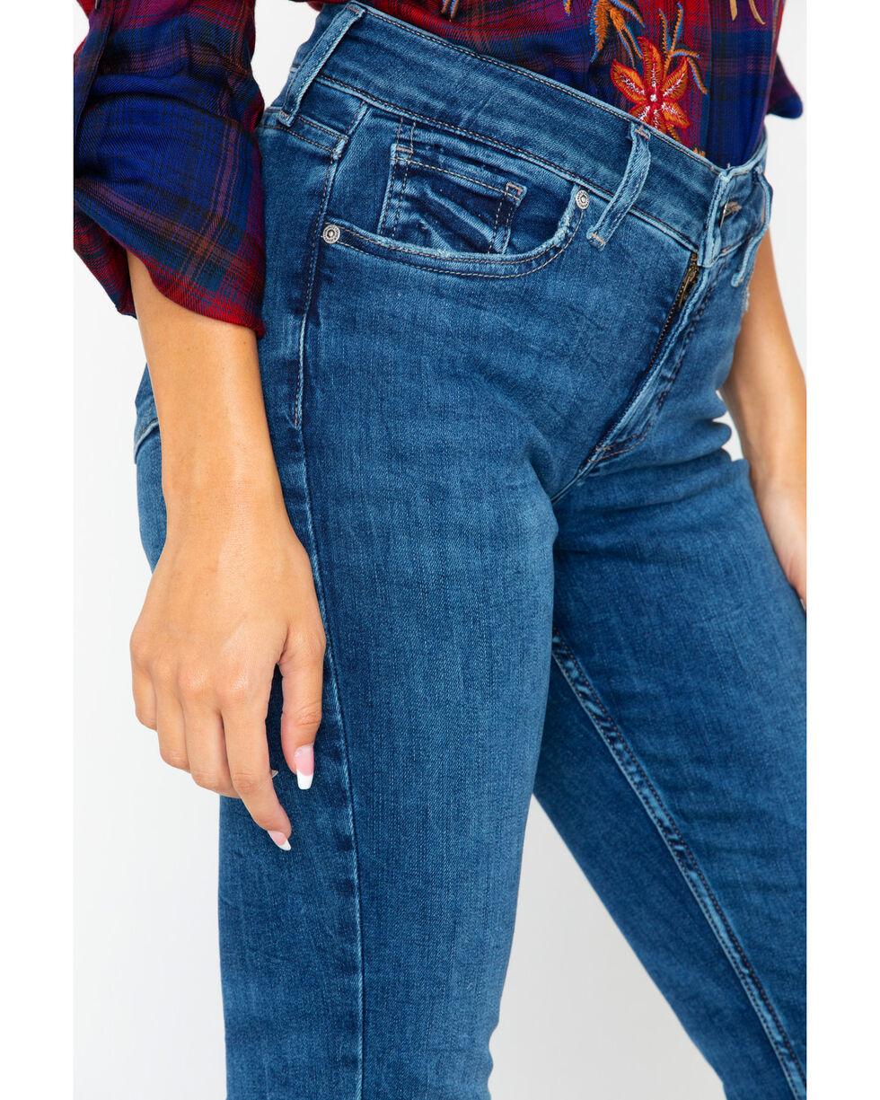 Silver Women's Elyse Slim Mid Dark Boot Jeans , Indigo, hi-res