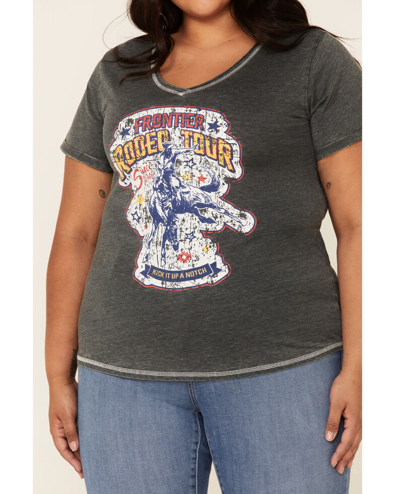Panhandle Women's Thyme Rodeo Tour Graphic Tee - Plus , Charcoal, hi-res