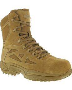 "Reebok Men's Stealth 8"" Tactical Boots - Composite Toe, Honey, hi-res"