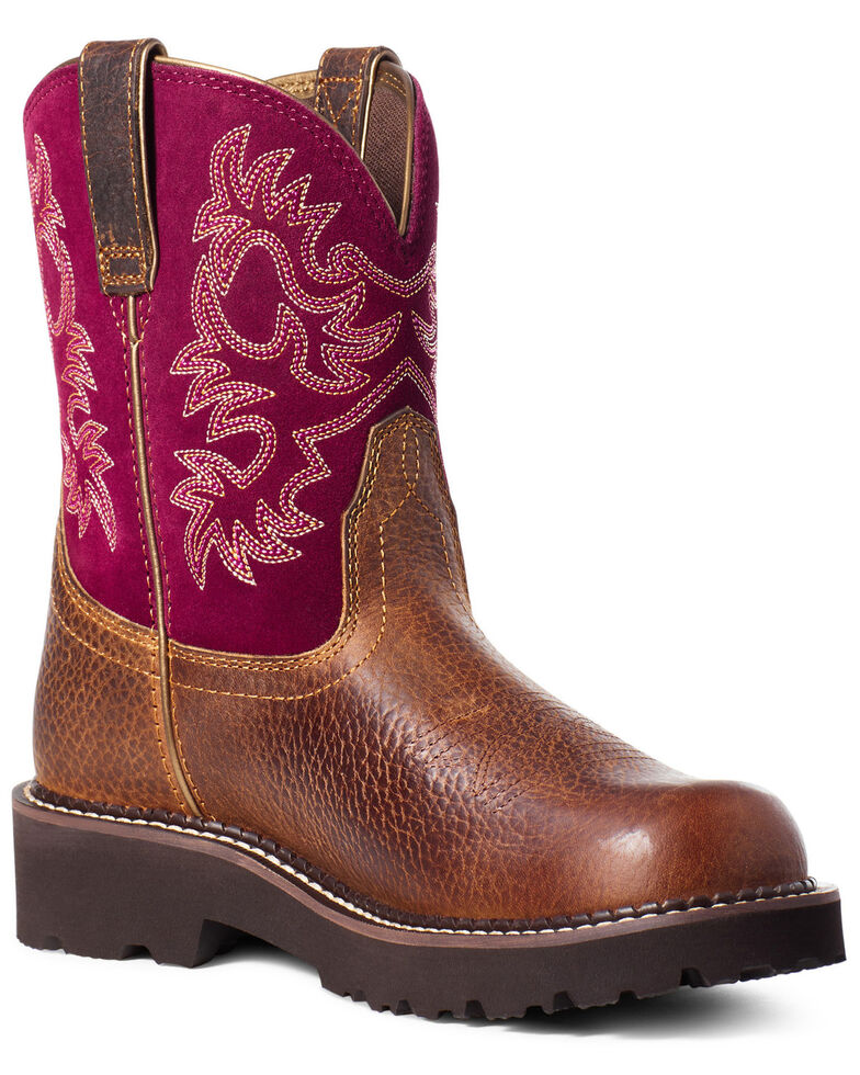 Ariat Women's Dark Brown Fatbaby Western Boots - Round Toe, Brown, hi-res