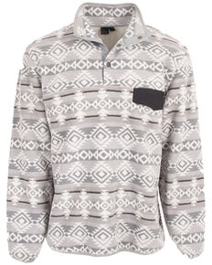 STS Ranchwear Men's Grey Unisex Aztec Fleece Sweatshirt , Grey, hi-res