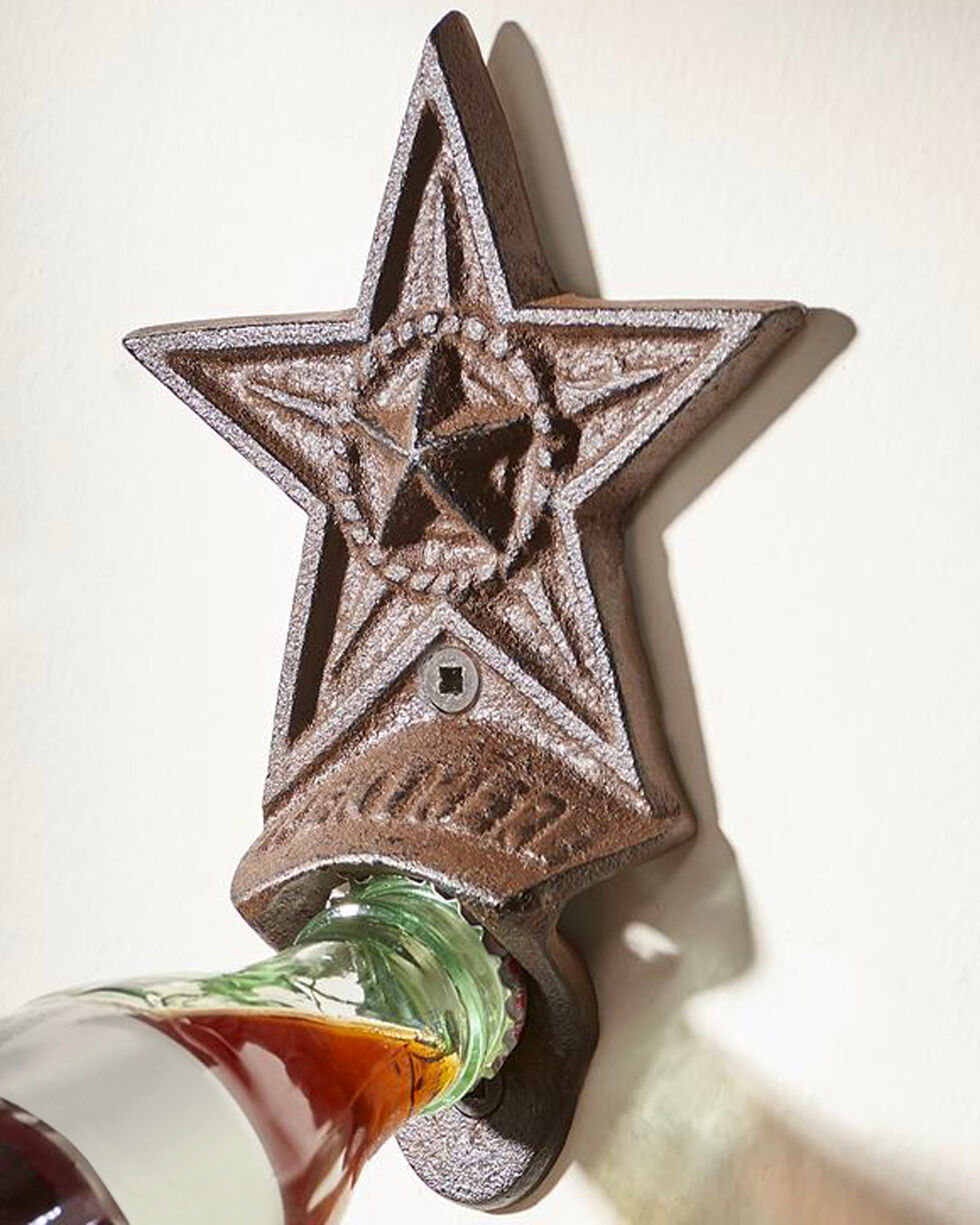 Giftcraft Brown Cast Iron Star Bottle Opener , Brown, hi-res