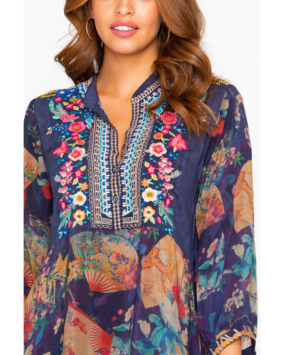 Johnny Was Women's Fusai Floral Tunic Dress, , hi-res