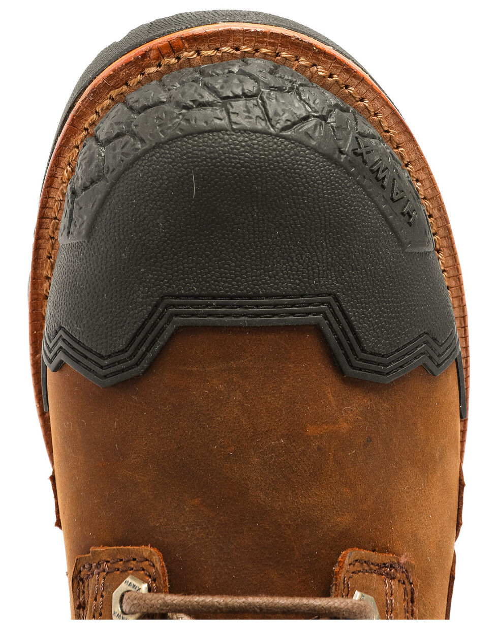 Hawx® Men's Legion Work Boots - Round Toe, Brown, hi-res