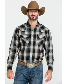 Ely Cattleman Men's Assorted Textured Multi Plaid Long Sleeve Western Shirt - Tall , Multi, hi-res