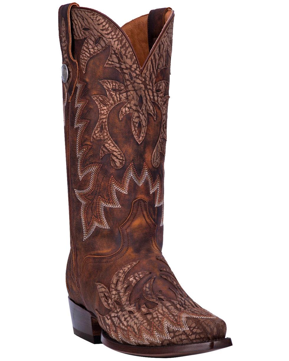 El Dorado Men's Handmade Rustic Wingtip Boots - Snip Toe, Brown, hi-res