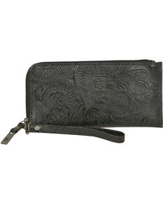STS Ranchwear Black Floral Clutch Wallet, Black, hi-res