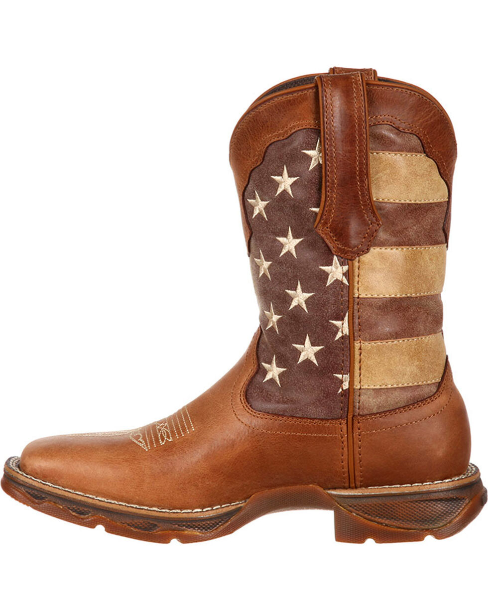 Lady Rebel by Durango Women's Faded Union Flag Western Boots, Brown, hi-res