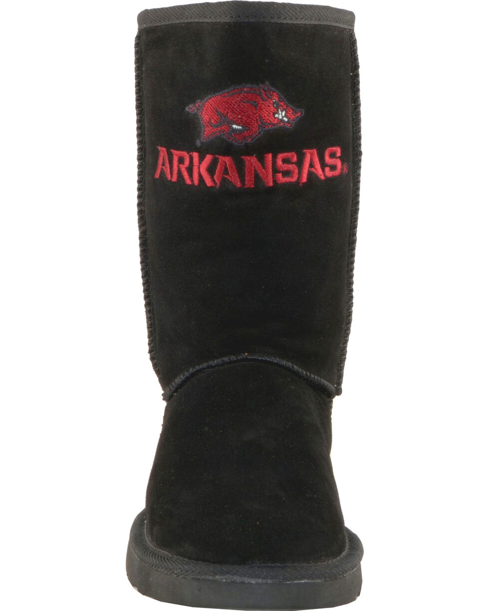 Gameday Boots Women's University of Arkansas Lambskin Boots, Black, hi-res