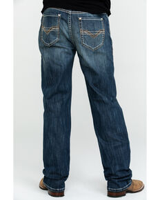 Rock & Roll Cowboy Men's Reflex Double Barrel Relaxed Bootcut Jeans , Blue, hi-res