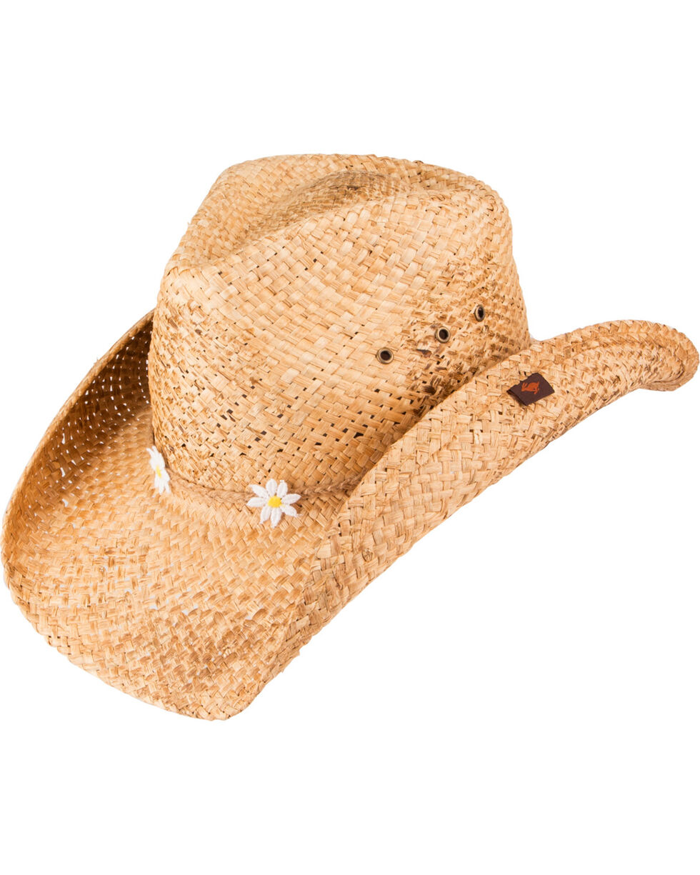 Peter Grimm Eliza Daisy Cowgirl Hat, Brown, hi-res