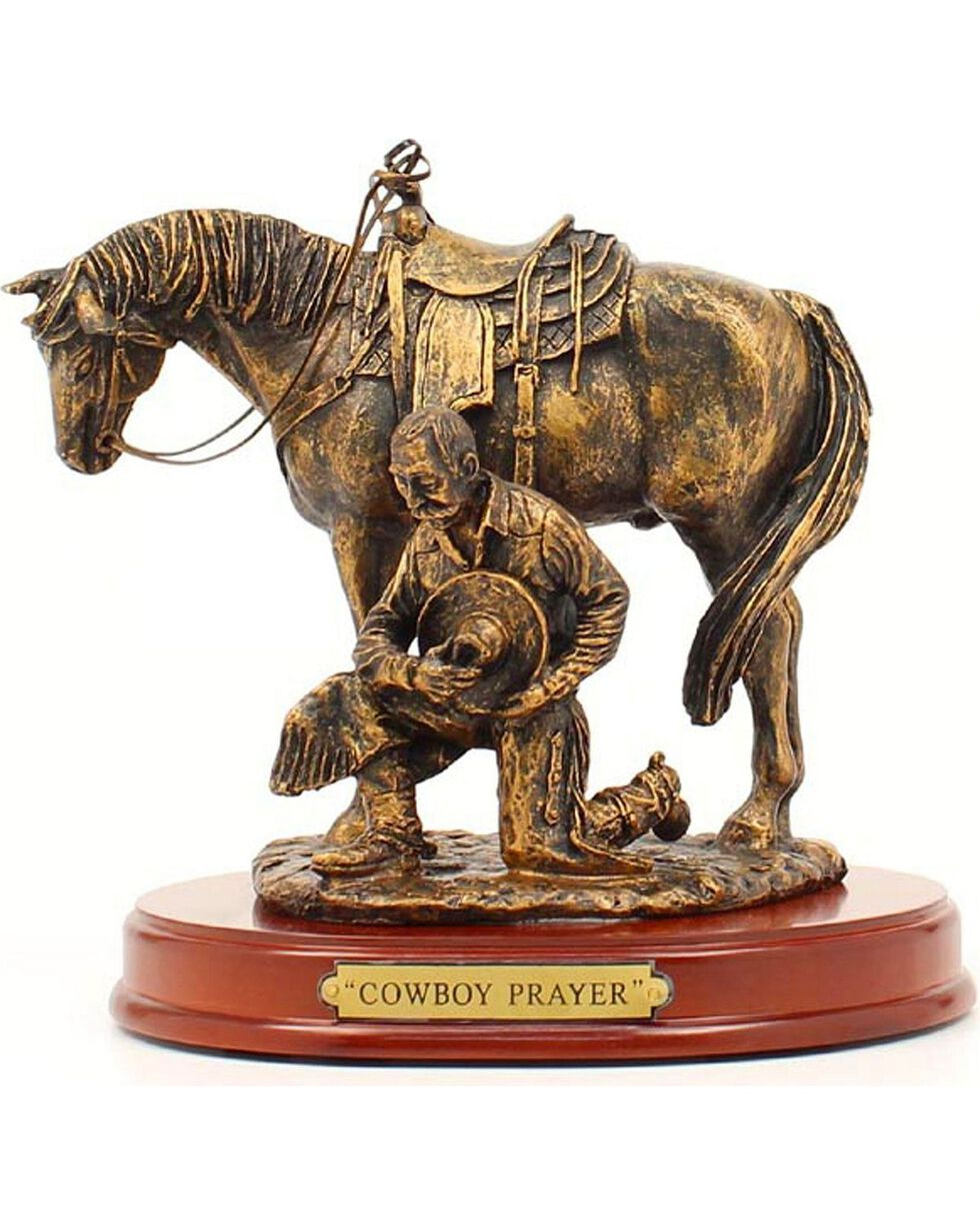 "Western Moments ""Cowboy Prayer"" Statue, Brown, hi-res"