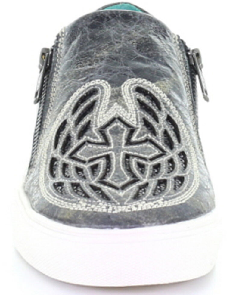 Corral Women's Black Cross & Wings Glitter Inlay Shoes, , hi-res