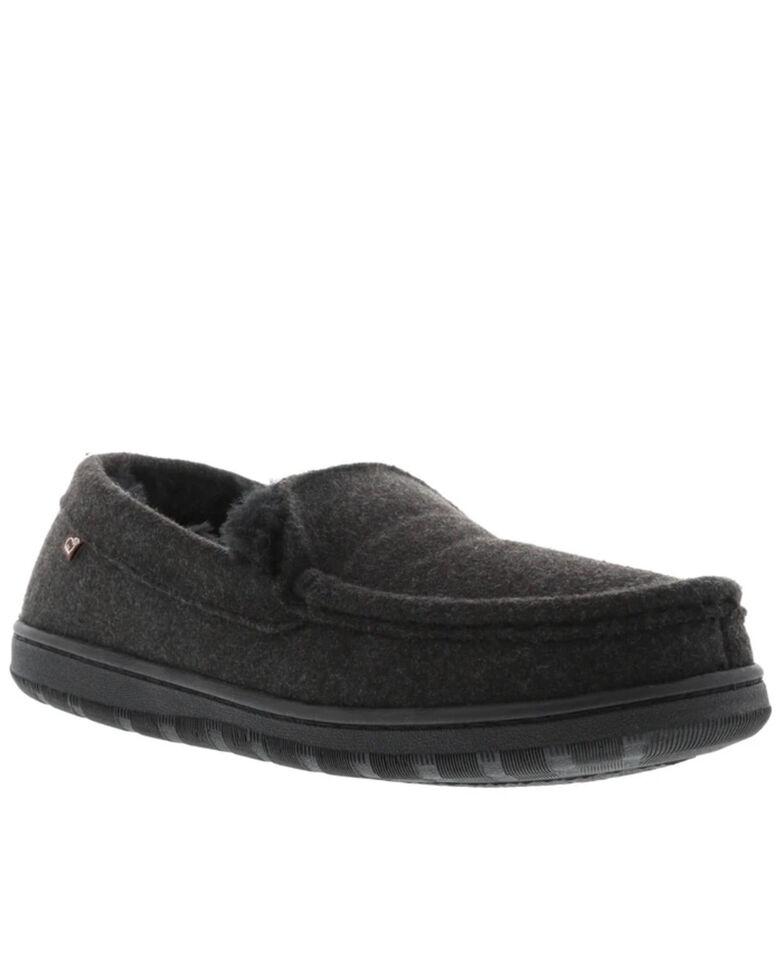Lamo Footwear Men's Harrison Wool Slippers - Moc Toe, Black, hi-res