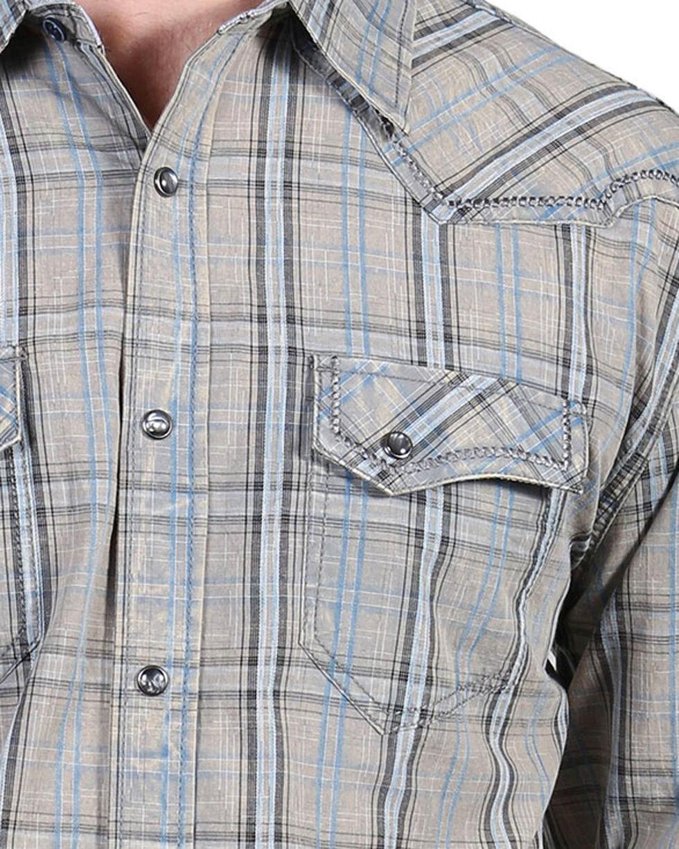 Moonshine Spirit® Men's Trigger Plaid Long Sleeve Shirt, Grey, hi-res