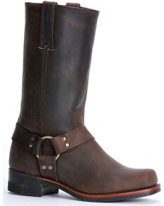 Frye Men's Harness 12R Motorcycle Boots, Gaucho, hi-res