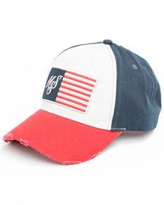 Moonshine Spirit Men's Logo Flag Patch Cap , Red, hi-res