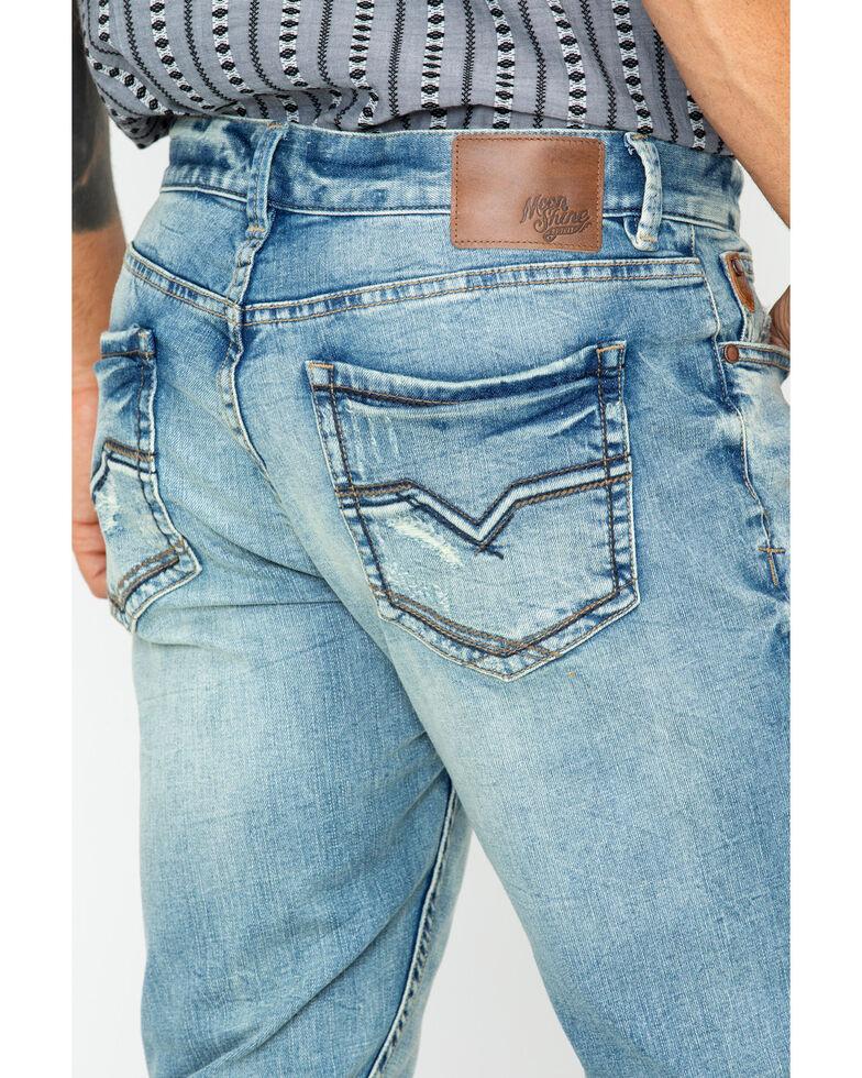 Moonshine Spirit Men's Sutton Light Wash Slim Straight Jeans , Indigo, hi-res