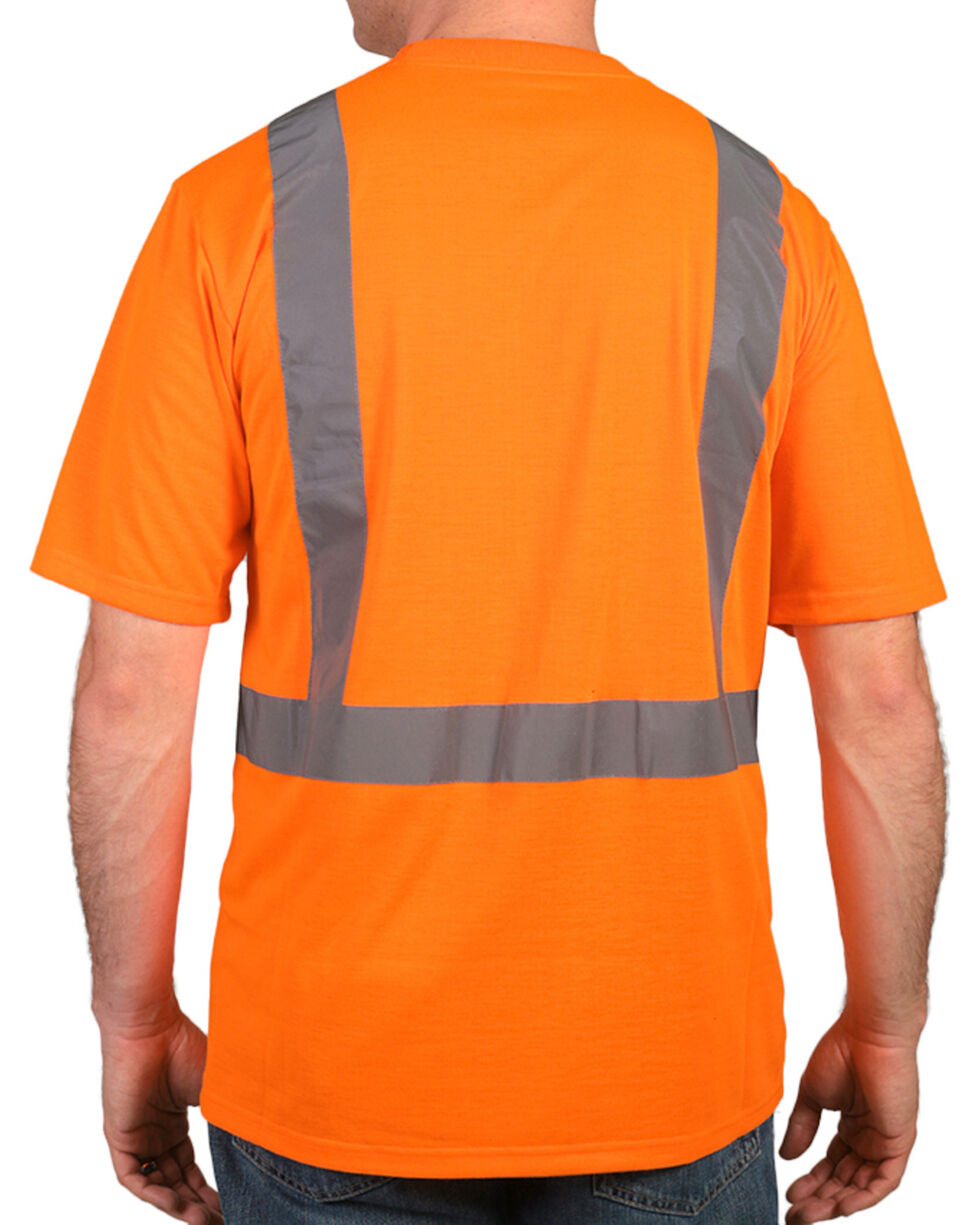American Worker® Men's Short Sleeve High Visibility T-Shirt, Orange, hi-res