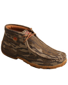 Twisted X Women's Mossy Oak Original Bottomland Driving Moc Shoes - Moc Toe, Camouflage, hi-res