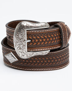 Moonshine Spirit Men's Western Belt, Brown, hi-res