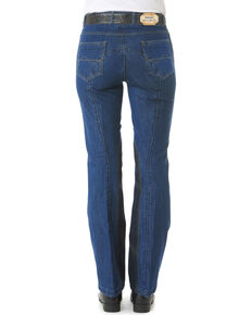Ovation Women's Riders Bootcut Jean Breeches, Denim, hi-res
