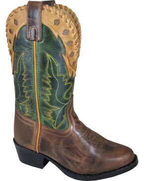 Smoky Mountain Boys' Reno Western Boot - Round Toe, Brown, hi-res