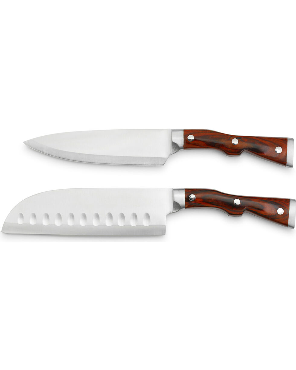 Big Sky Carvers Big Shot Fillet and Santoku Knife Set , Brown, hi-res
