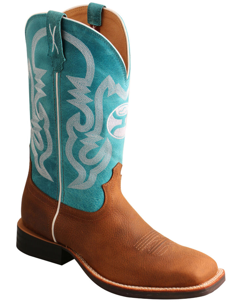Twisted X Men's Brown HOOey Western Boots - Wide Square Toe, Brown, hi-res