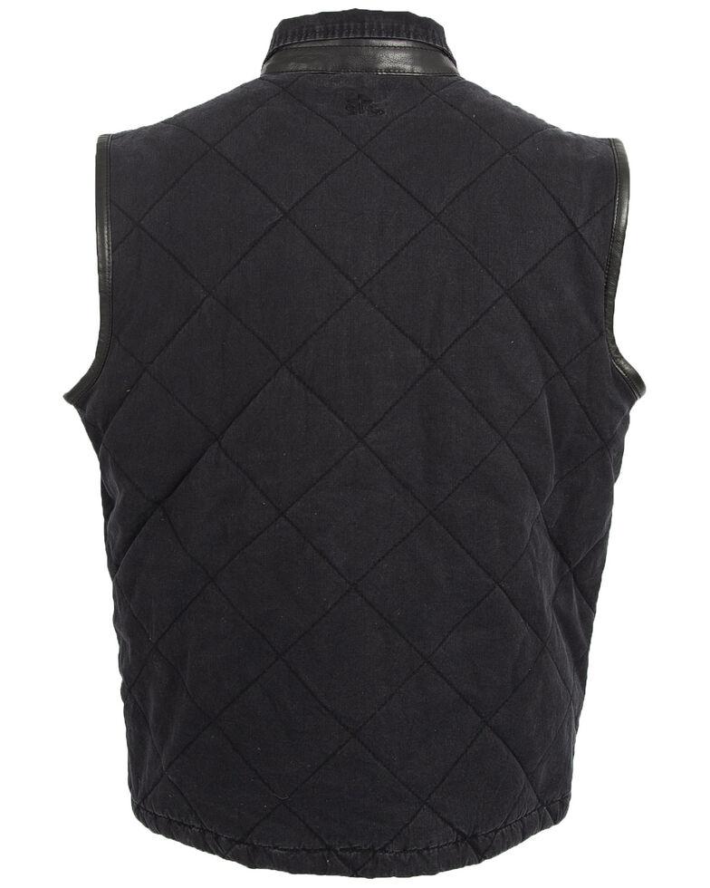 STS Ranchwear Men's Black Yellowstone Vest , Black, hi-res