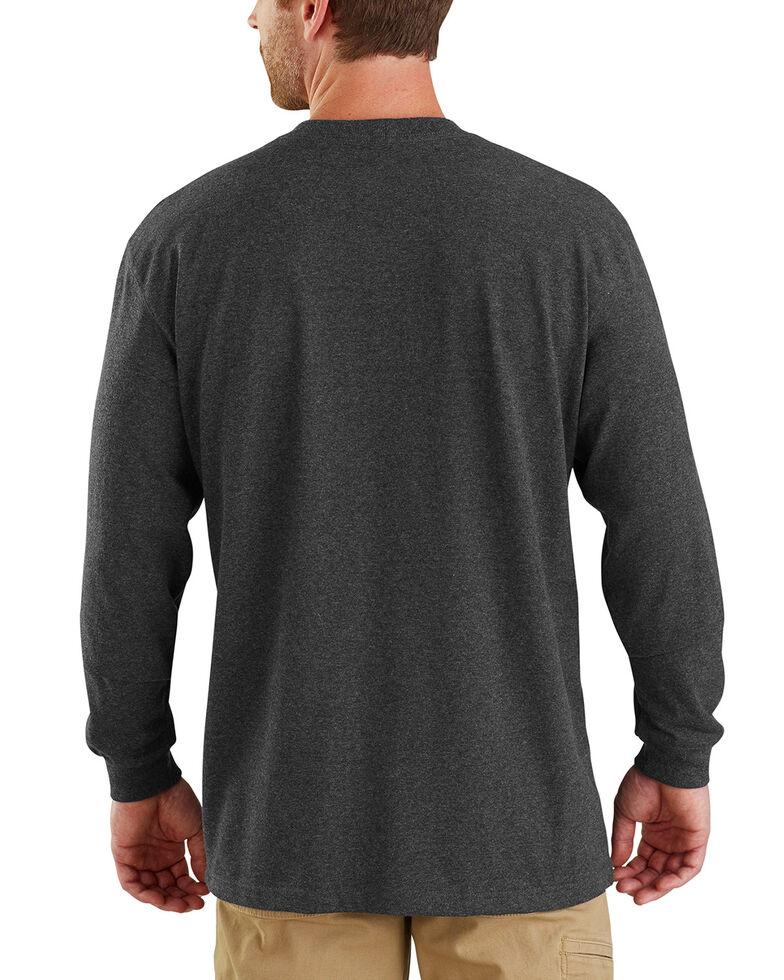 Carhartt Men's Workwear Block Logo Long Sleeve T-Shirt , Charcoal, hi-res